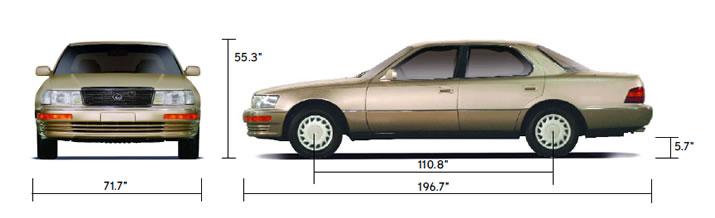 1996 lexus ls400 0-60