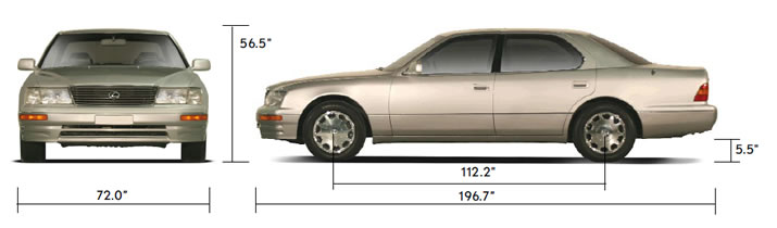 www.ls400data.com  Lexus LS400 - 1994 Series 2